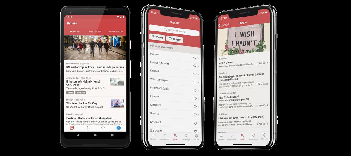 Börskollen som app - För både iOS och Android